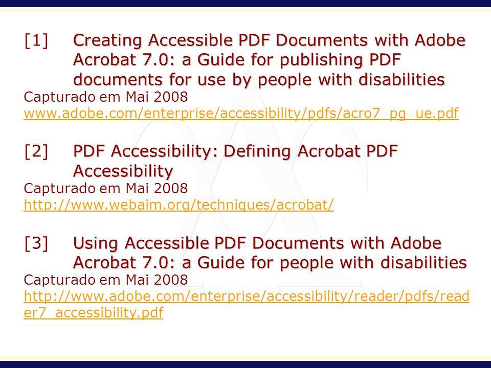 [2] PDF Accessibility: Defining Acrobat PDF Accessibility